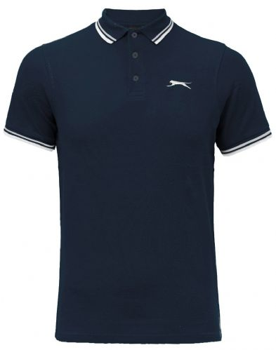 SLAZENGER  TIPPED POLO SHIRT - NAVY